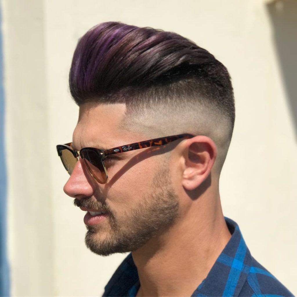 Pelo tinte purpura