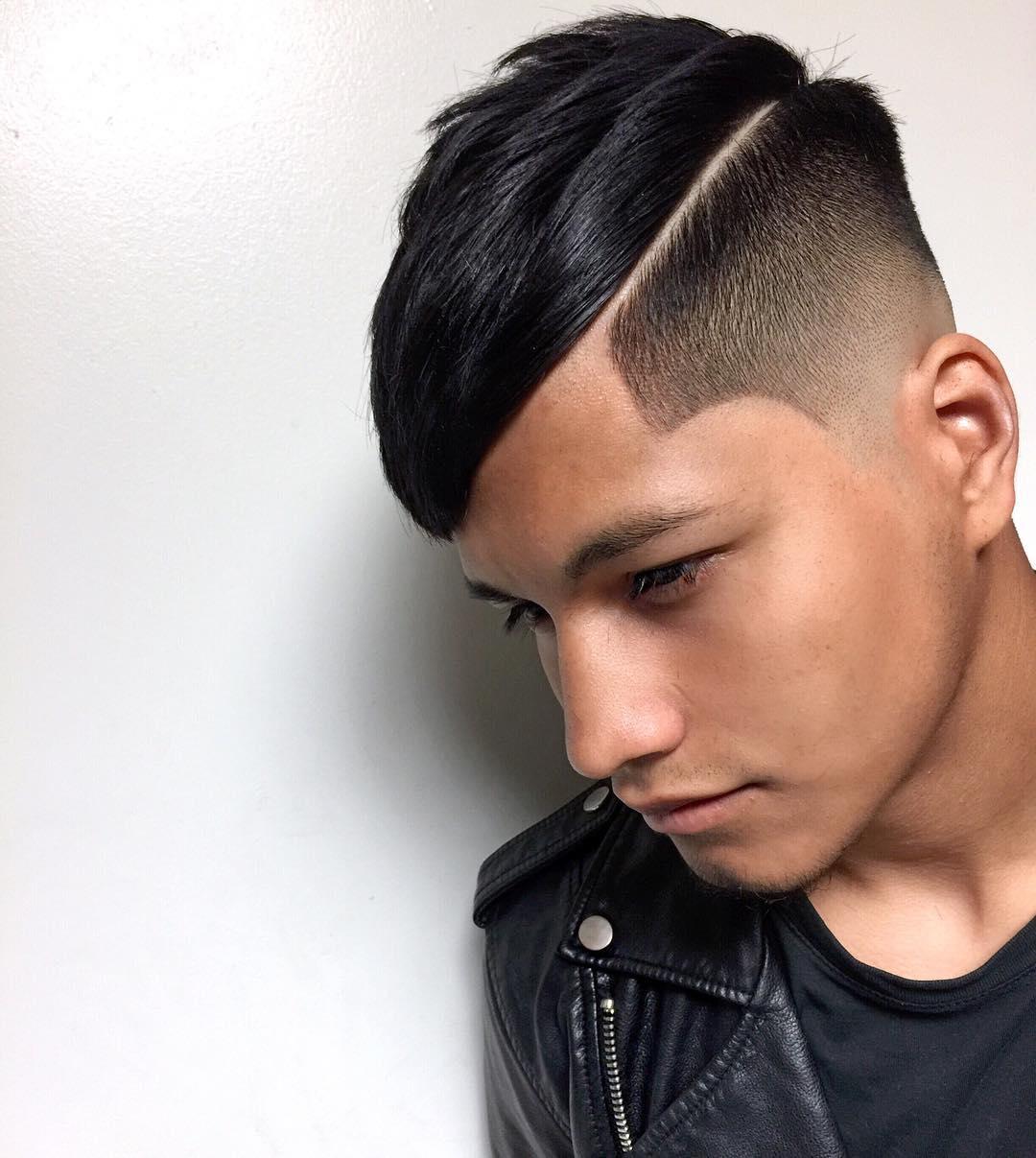 Corte de pelo degrade con lineas