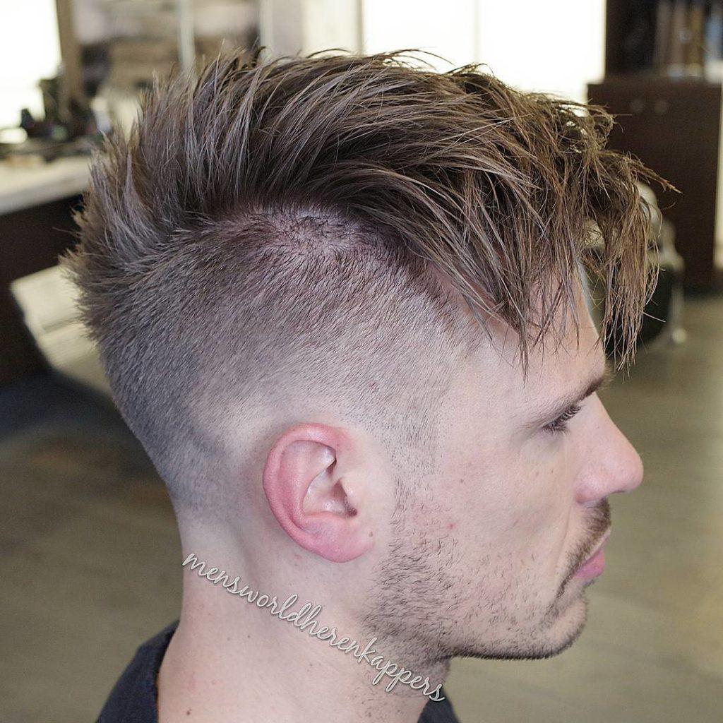 Peinado con pelo largo arrib