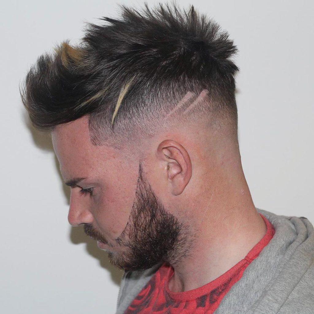Estilo de corte moderno para chicos combinacion con barba