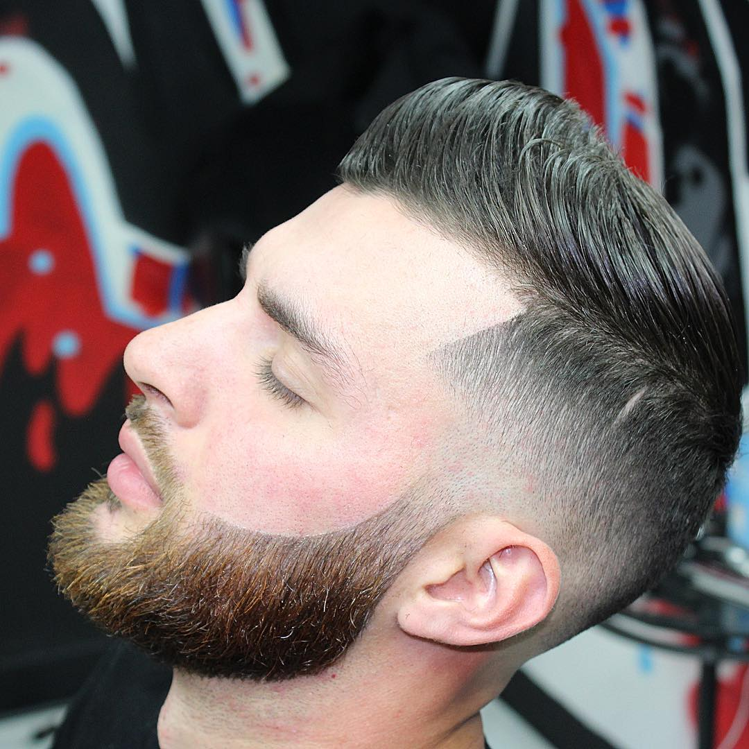 Perfecto corte de barba con degradado