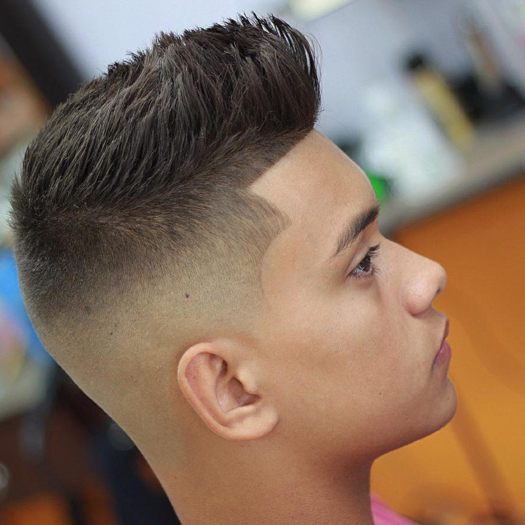 Corte de pelo con degradado hombre