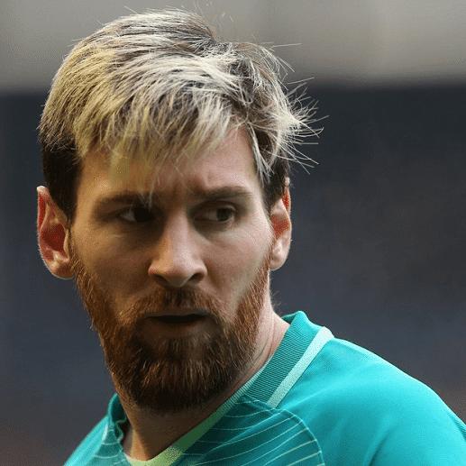 Messi pelo rubio 2018