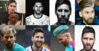 collage fotos de cortes de cabello leo messi