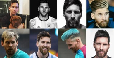collage fotos de cortes de cabello leo messi
