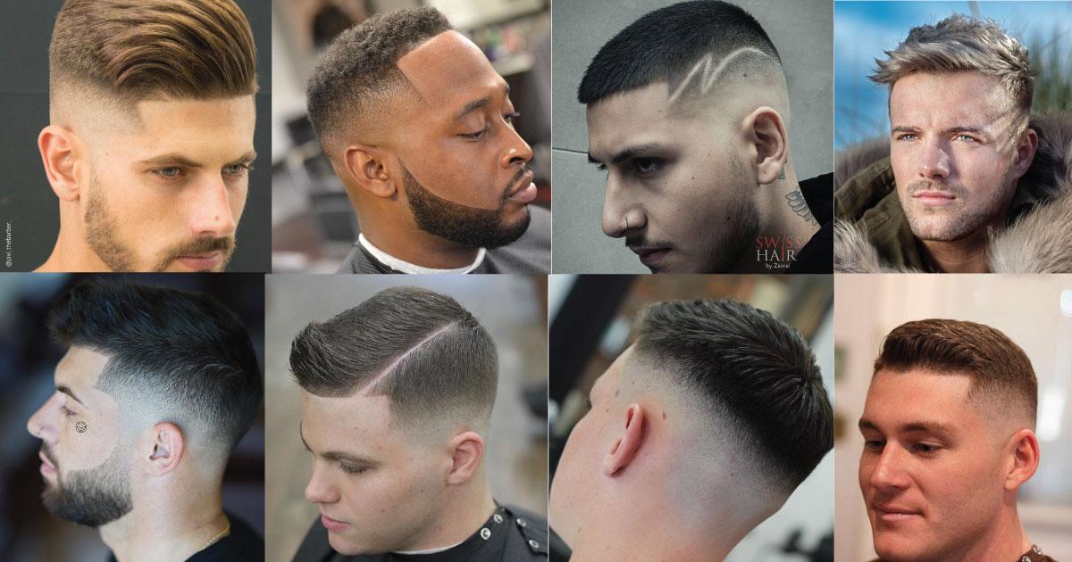 imagene de hombre con corte de pelo corto