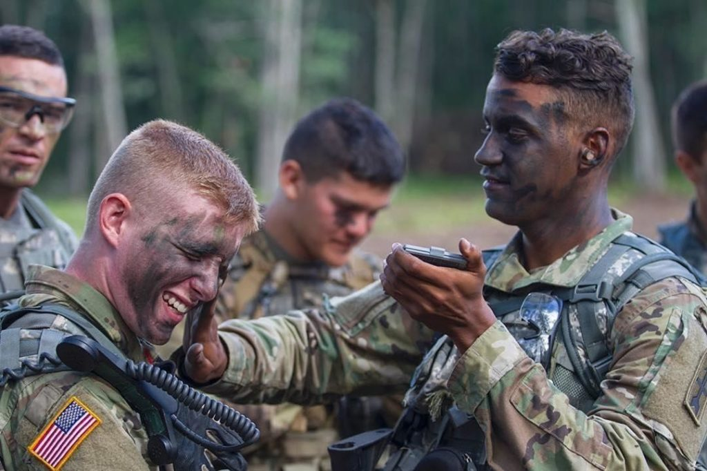 Diferentes longitudes entipos de cortes militares