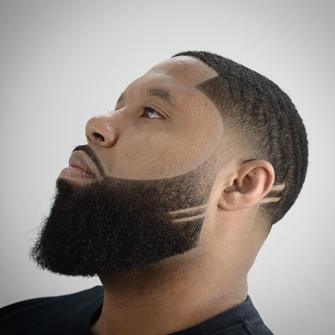 barba desvanecida para personas negras
