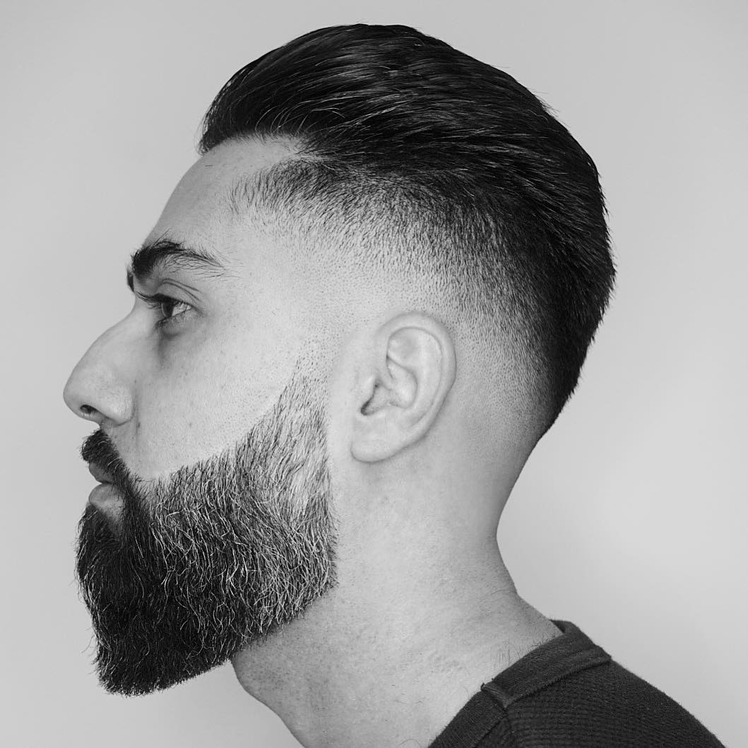 corte de barba larga