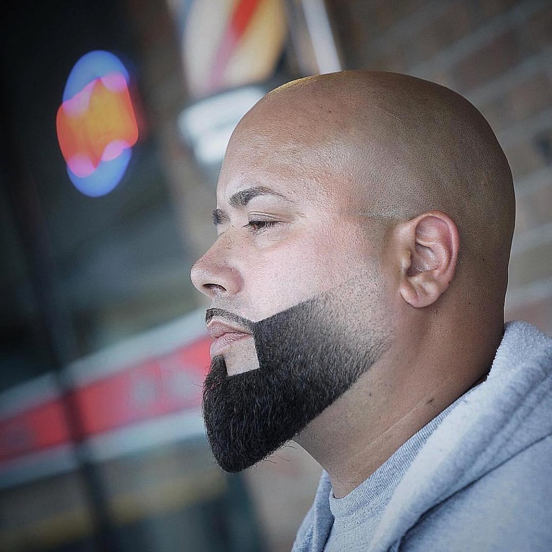 corte de barba para calvos