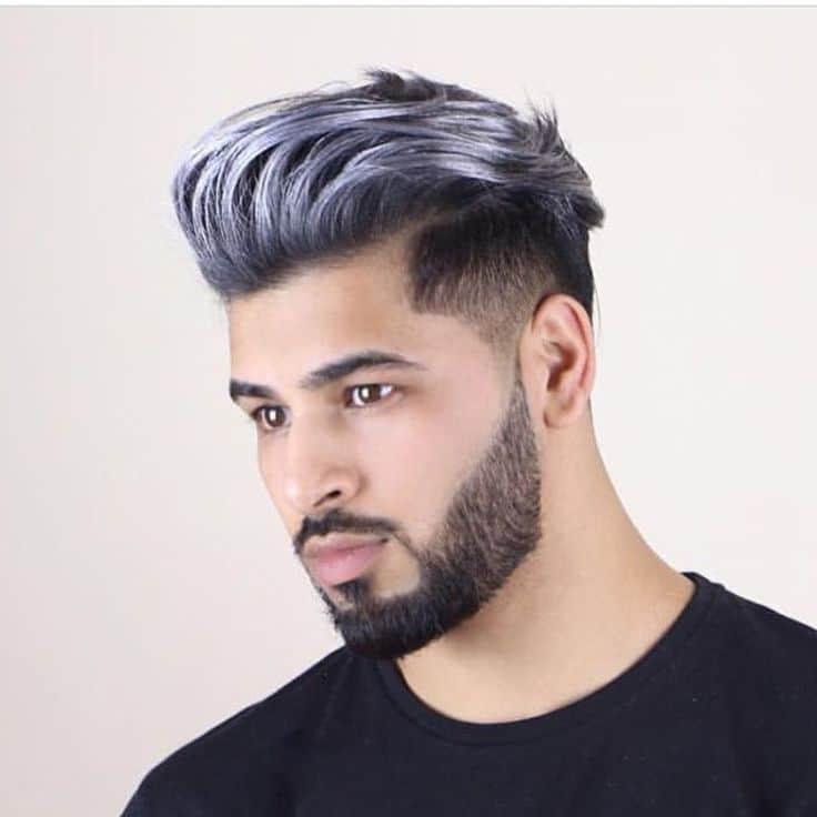 media longitud color violeta en hombre