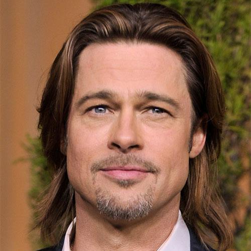 Brad Pitt con pelo largo y barba