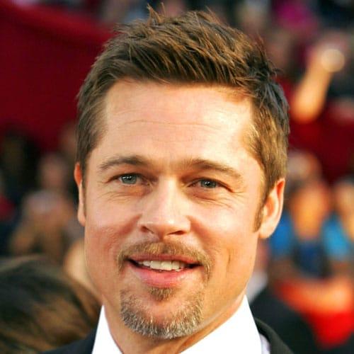 Brad Pitt corte de pelo moderno + candado