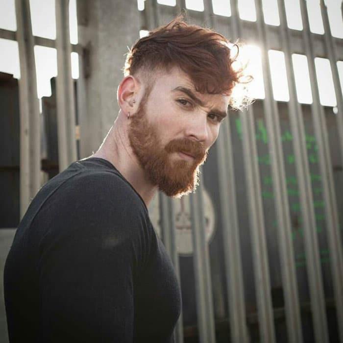 barba corta hipster