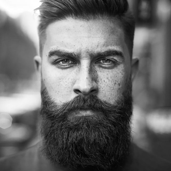 barba hipster estilo moderno