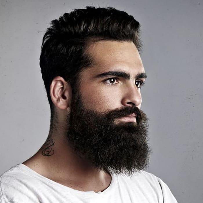 barba hipster larga y moderna