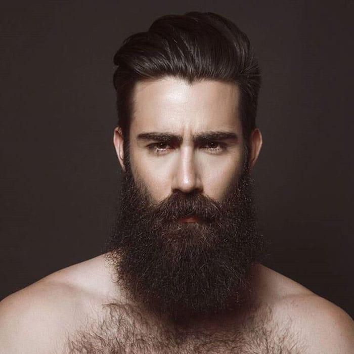barba hipster larga y negra