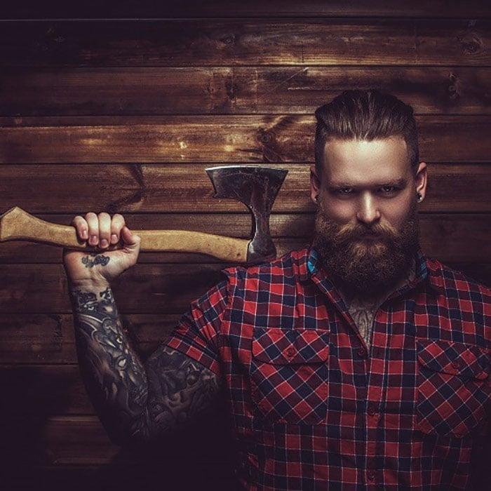 barba hipster tipo leñador