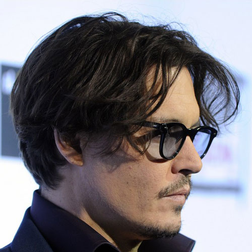 cabello corto Johnny Depp