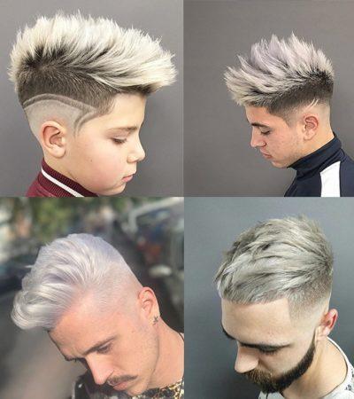 Cabello color gris plateado en hombres o Blancos cenizos