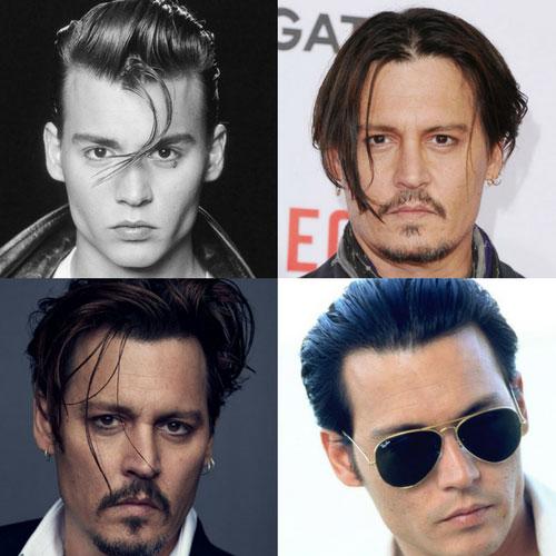 corte corto de Johnny Depp