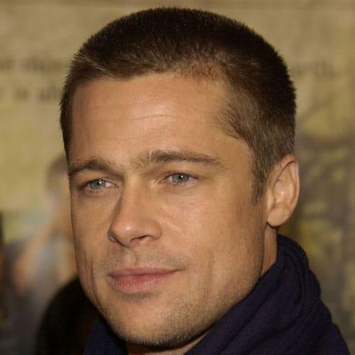 corte de cabello estilo militar Brad Pitt