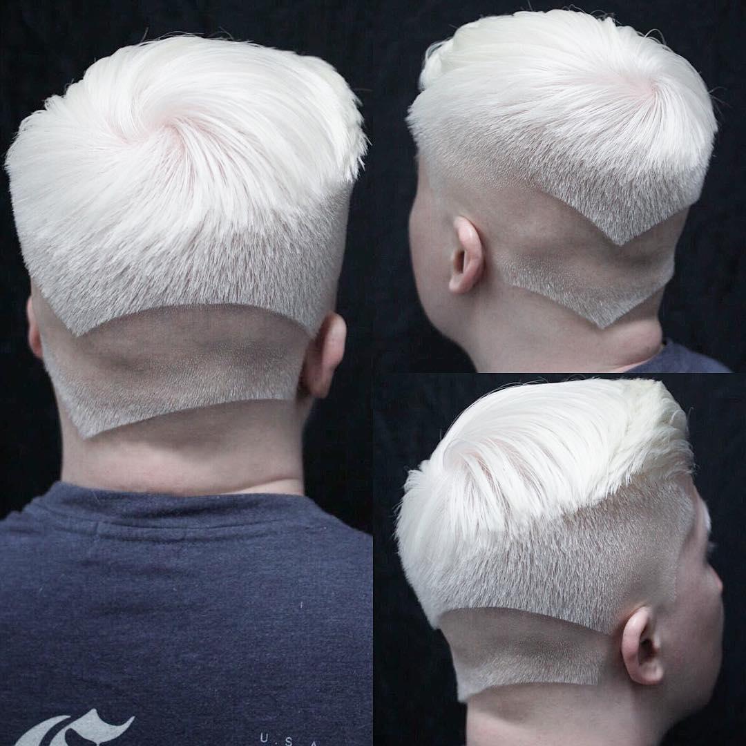 cabello plateado hombres