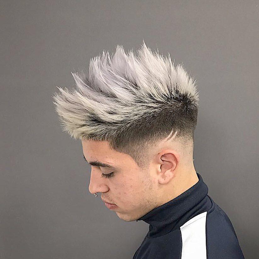 cabello gris plateado hombres