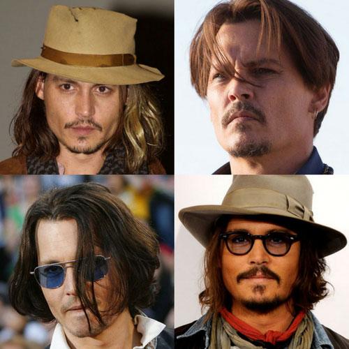 mejores peinados de Johnny Depp