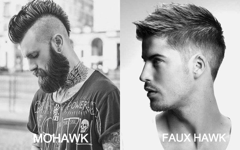 mohicano o cresta en hombres con barba