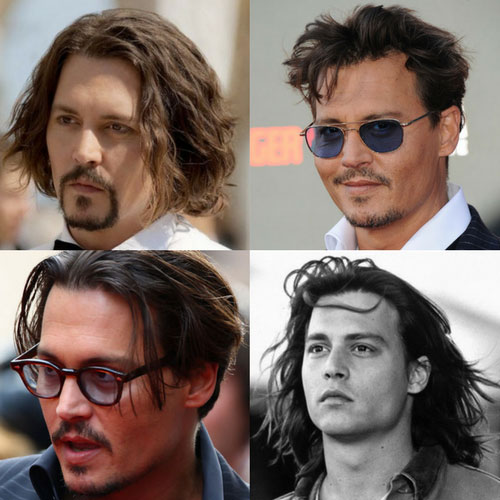 peinados de Johnny Depp