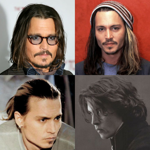 pelo largo Johnny Depp