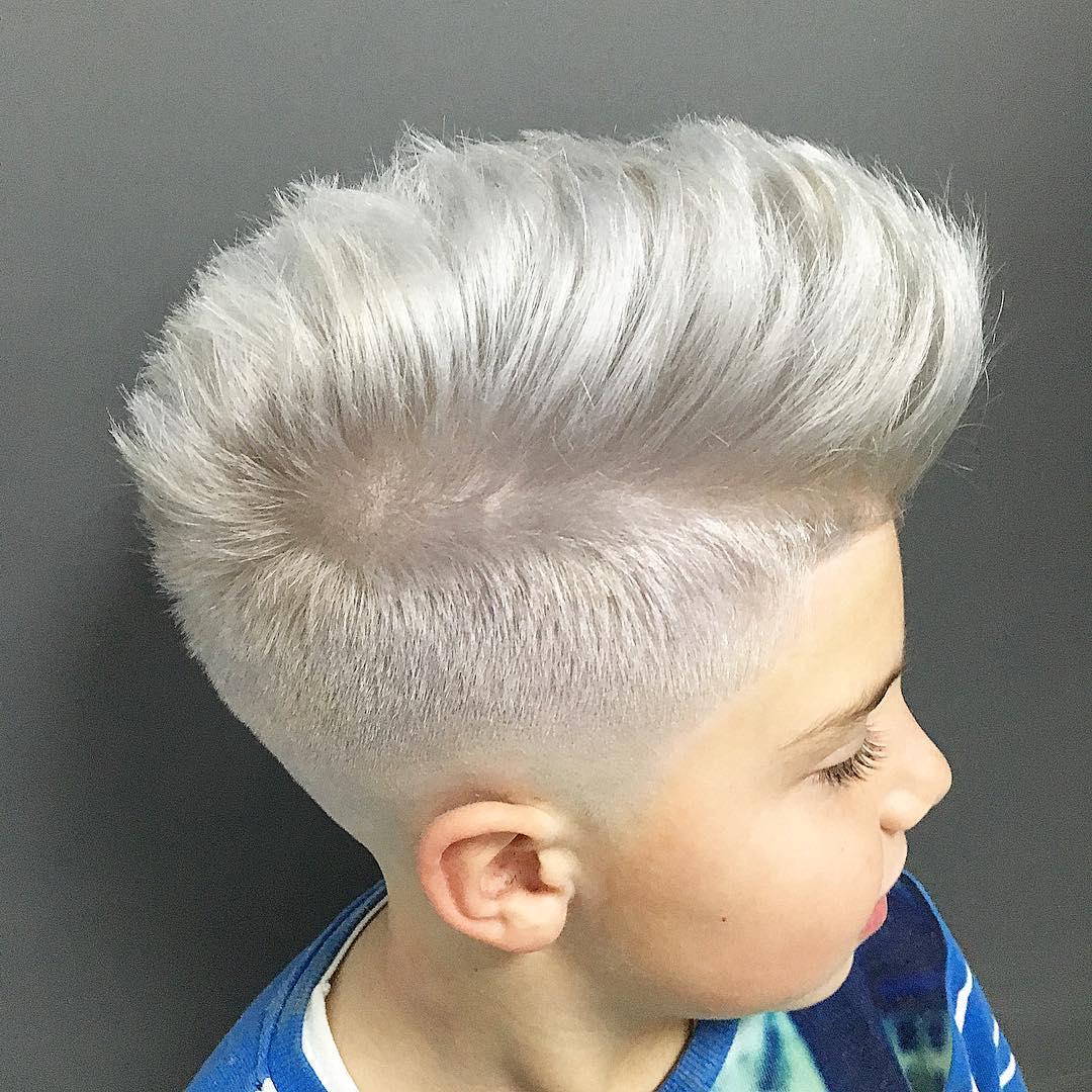 pelo niñ color blanco
