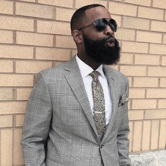 apuesto negro hombres de barba estilo inspiración