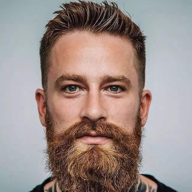 Barba Espartana mediana en hombre joven