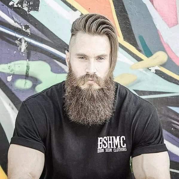 Barba Larga en hombre moderna