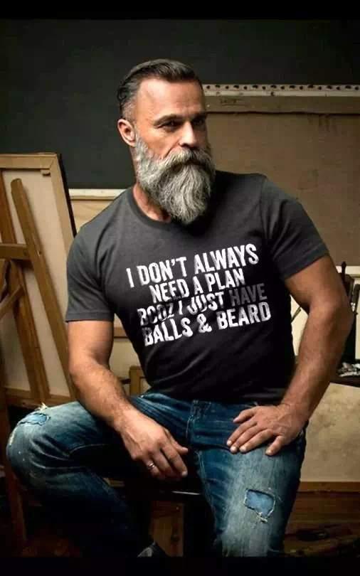 Barba espartana en Hombre mayor