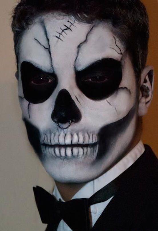 Calavera en hombre - Idea para Halloween