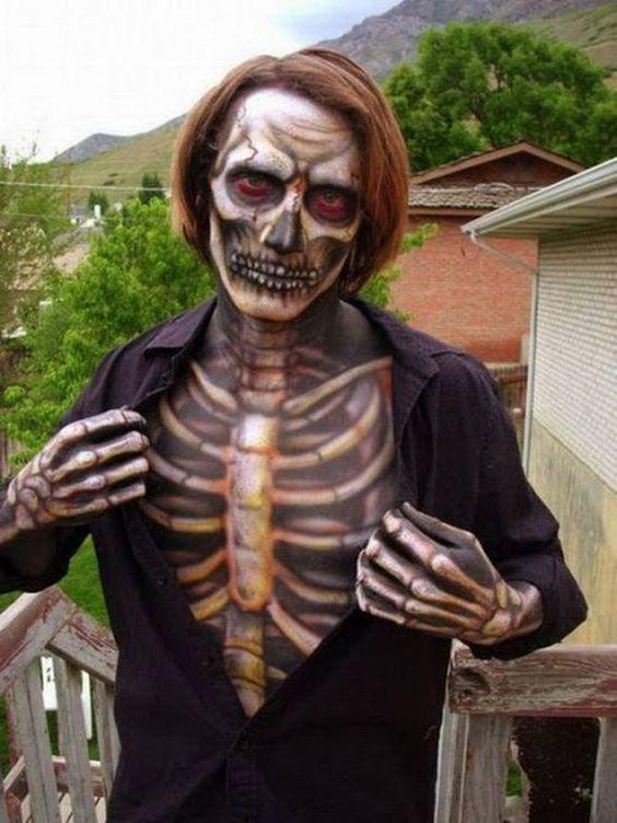 Esqueleto Halloween Disfraz