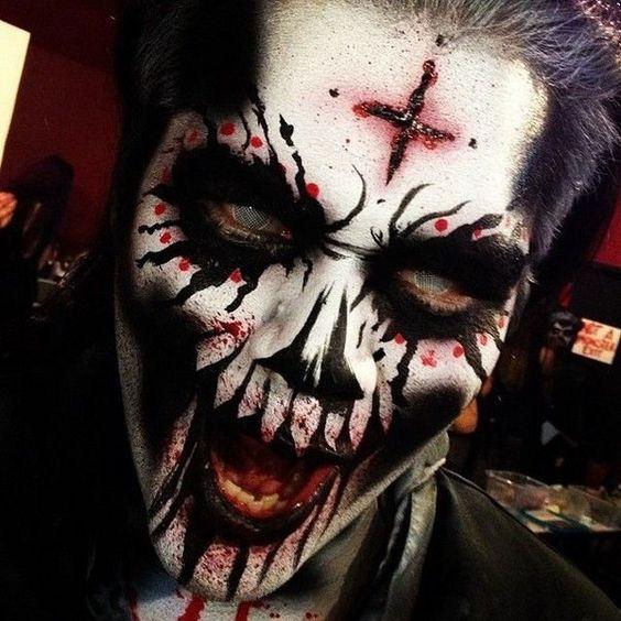 Halloween Diablo Maquillaje para Hombres