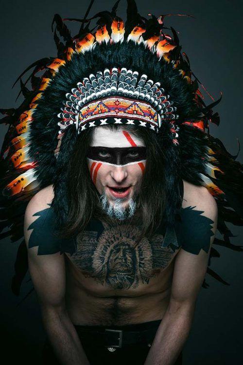 Halloween Disfras de Indio de Hombre