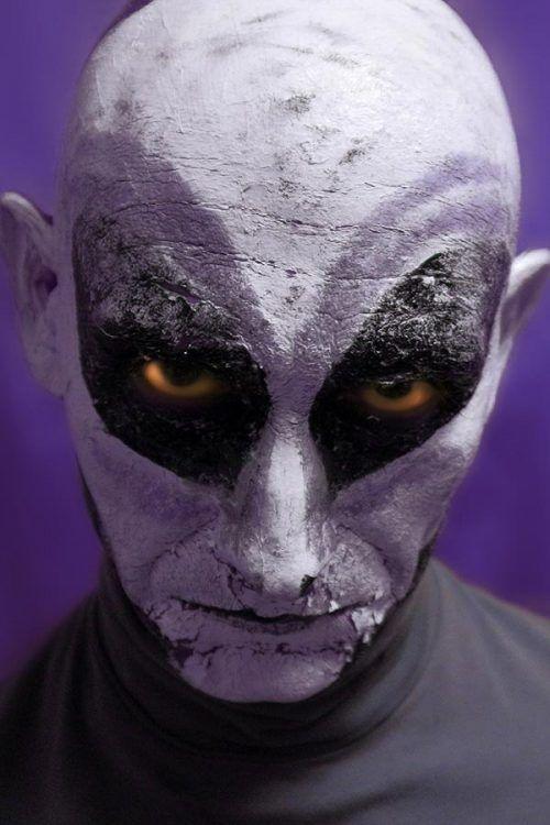 Halloween Ideas para hombres Maquillaje de Estaterrestre