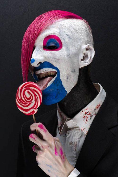 Halloween Maquillaje de Payaso en Hombre