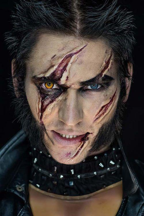 Haloween Maquillaje de Hombre Lobo