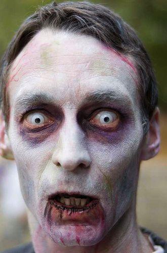 Imagen de maquillaje para hombre - idea para halloween