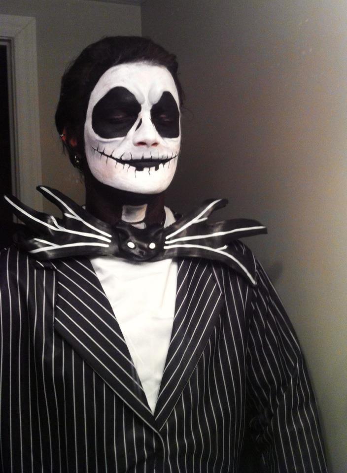 Jack-Skellington Increible Maquillaje para Halloween o Dia de los Muertos