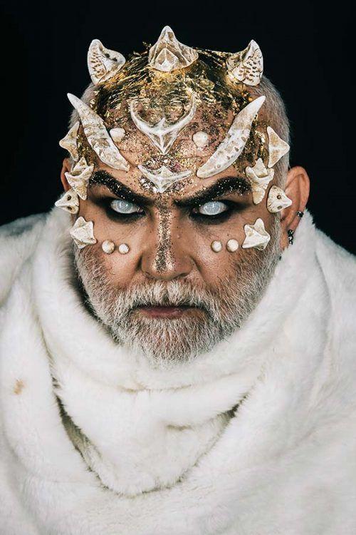 Lizard Maquillaje para Halloween en Hombre