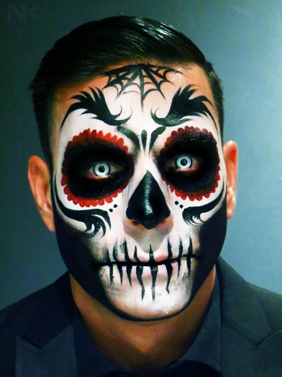 Maquillaje de Esqueleto de Hombre Calavera