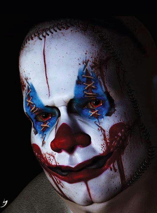 Maquillaje de Payaso para halloween dia de Los Muertos
