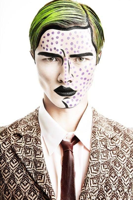 Maquillaje para Halloween Hombre con cara de loco